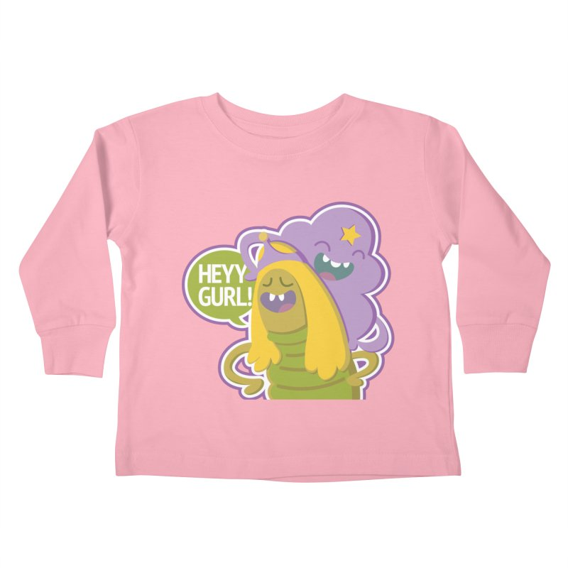 Heyy Gurl! Lumpy Space Princess (LSP) and Turtle Princess  Kids Toddler Longsleeve T-Shirt by jaredslyterdesign's Artist Shop