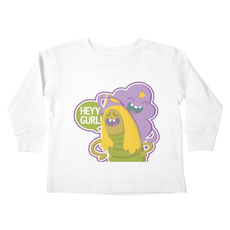 Heyy Gurl! Lumpy Space Princess (LSP) and Turtle Princess  Kids Toddler Longsleeve T-Shirt by jaredslyterdesign's Artist Shop