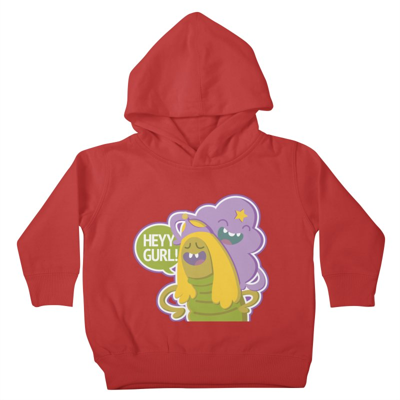 Heyy Gurl! Lumpy Space Princess (LSP) and Turtle Princess  Kids Toddler Pullover Hoody by jaredslyterdesign's Artist Shop