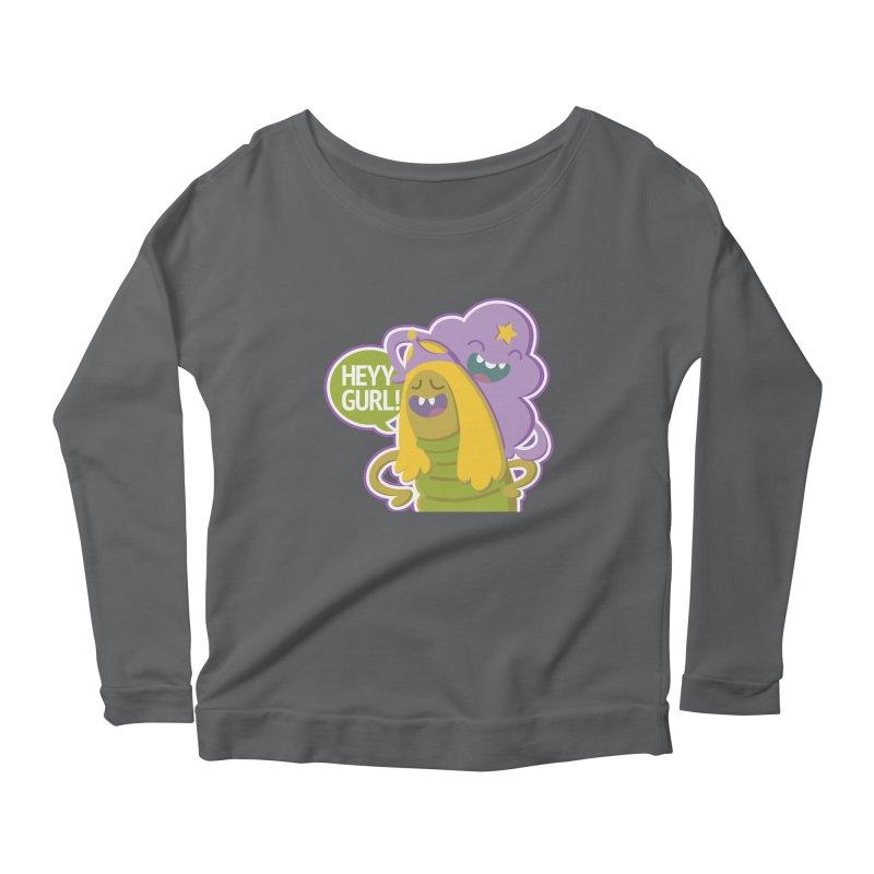 Heyy Gurl! Lumpy Space Princess (LSP) and Turtle Princess  Women's Longsleeve Scoopneck  by jaredslyterdesign's Artist Shop