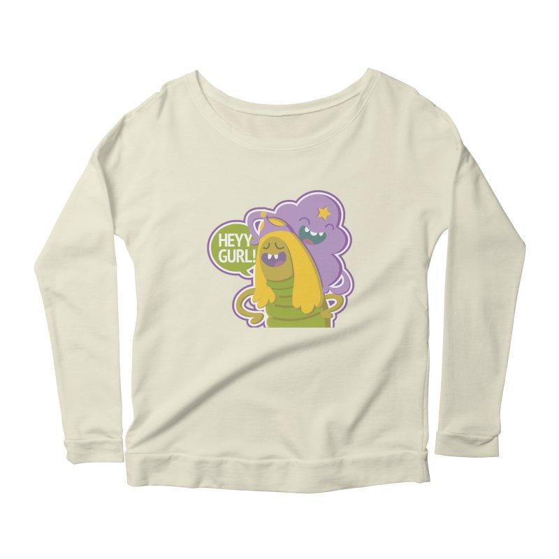 Heyy Gurl! Lumpy Space Princess (LSP) and Turtle Princess  Women's Scoop Neck Longsleeve T-Shirt by jaredslyterdesign's Artist Shop