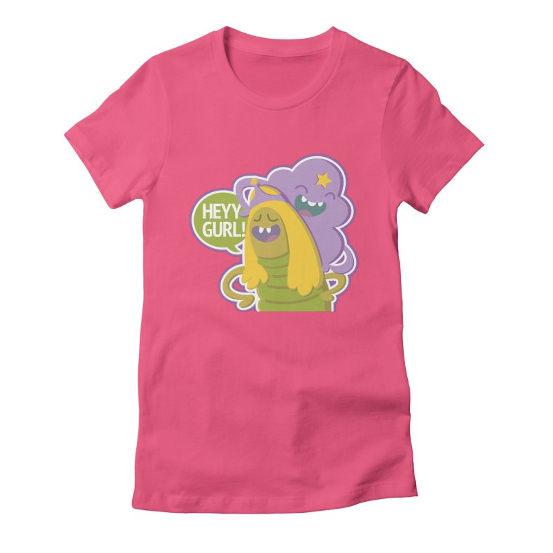 Heyy Gurl! Lumpy Space Princess (LSP) and Turtle Princess  Women's Fitted T-Shirt by jaredslyterdesign's Artist Shop