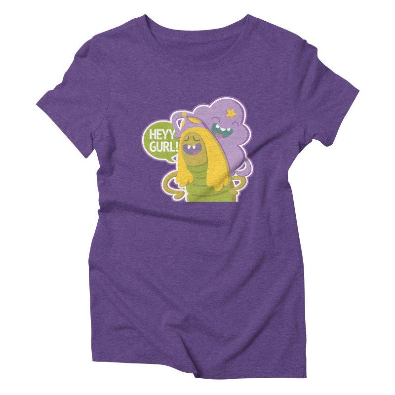 Heyy Gurl! Lumpy Space Princess (LSP) and Turtle Princess  Women's Triblend T-shirt by jaredslyterdesign's Artist Shop