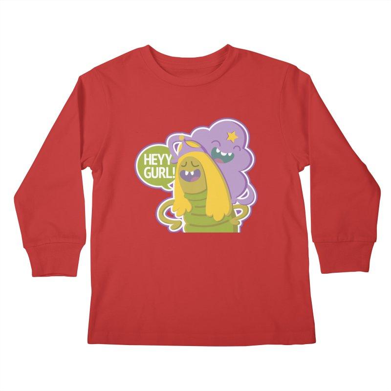 Heyy Gurl! Lumpy Space Princess (LSP) and Turtle Princess  Kids Longsleeve T-Shirt by jaredslyterdesign's Artist Shop