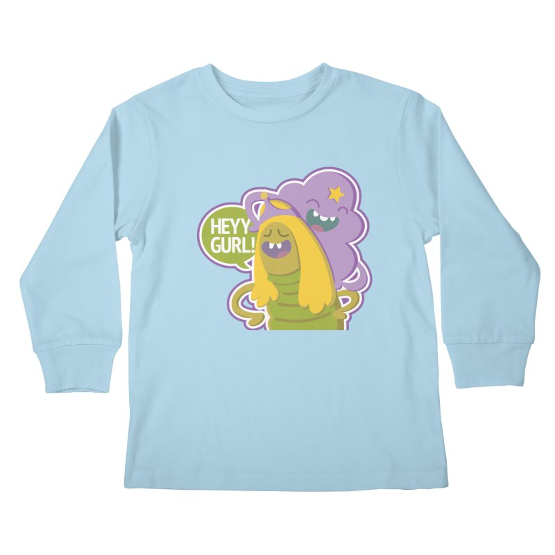 Heyy Gurl! Lumpy Space Princess (LSP) and Turtle Princess  Kids Longsleeve T-Shirt by jaredslyterdesign's Artist Shop