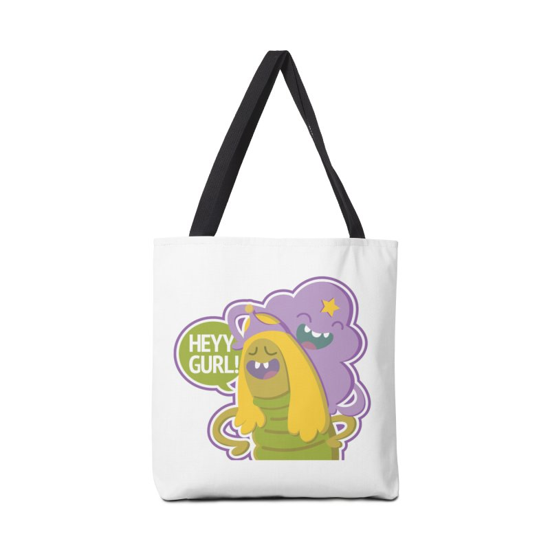 Heyy Gurl! Lumpy Space Princess (LSP) and Turtle Princess  Accessories Bag by jaredslyterdesign's Artist Shop