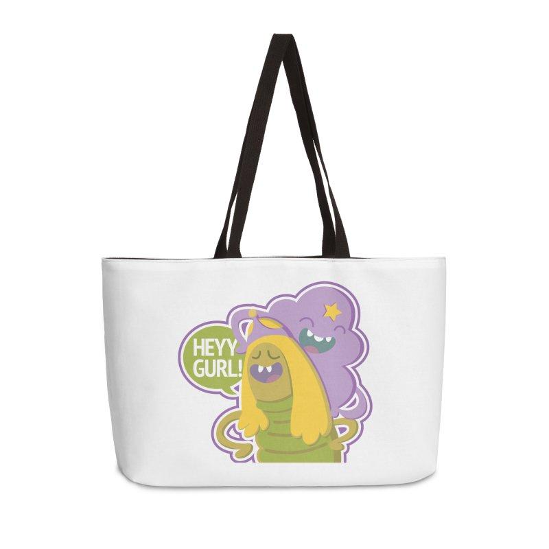Heyy Gurl! Lumpy Space Princess (LSP) and Turtle Princess  Accessories Weekender Bag Bag by jaredslyterdesign's Artist Shop