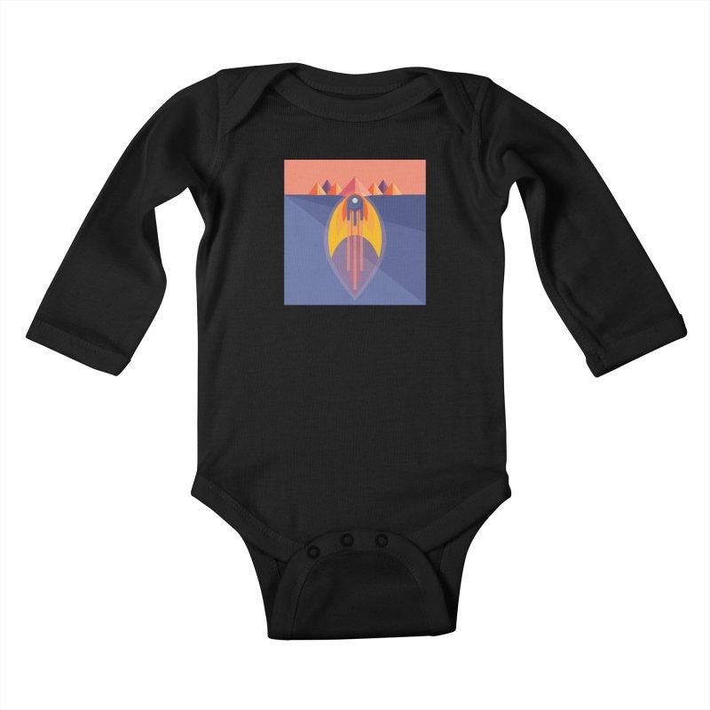 Take to the Skies Kids Baby Longsleeve Bodysuit by jaredslyterdesign's Artist Shop