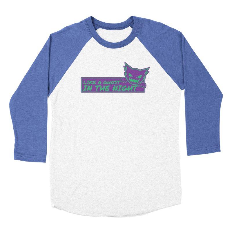 Haunter Like a Ghost in the Night Men's Baseball Triblend Longsleeve T-Shirt by jaredslyterdesign's Artist Shop