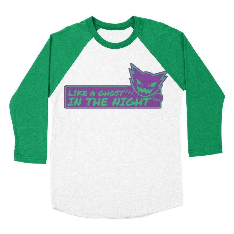 Haunter Like a Ghost in the Night Women's Baseball Triblend Longsleeve T-Shirt by jaredslyterdesign's Artist Shop