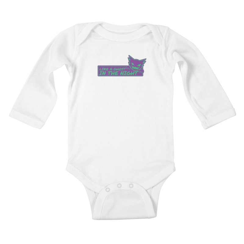 Haunter Like a Ghost in the Night Kids Baby Longsleeve Bodysuit by jaredslyterdesign's Artist Shop