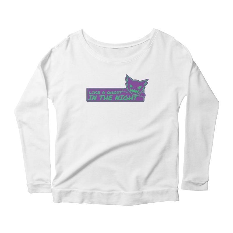 Haunter Like a Ghost in the Night Women's Scoop Neck Longsleeve T-Shirt by jaredslyterdesign's Artist Shop
