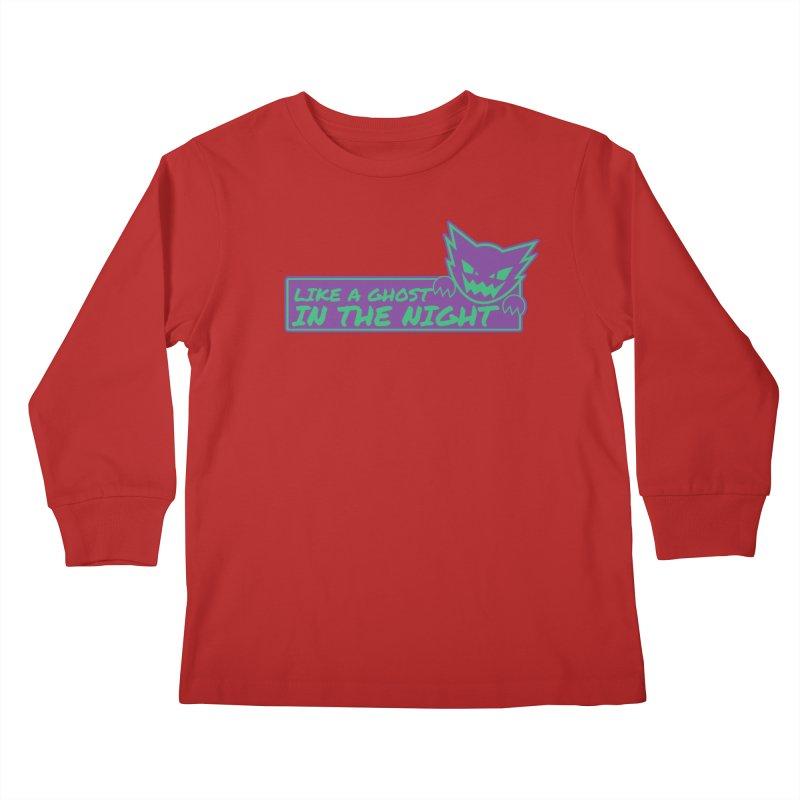 Haunter Like a Ghost in the Night Kids Longsleeve T-Shirt by jaredslyterdesign's Artist Shop