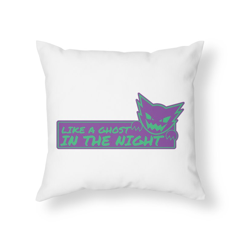 Haunter Like a Ghost in the Night Home Throw Pillow by jaredslyterdesign's Artist Shop