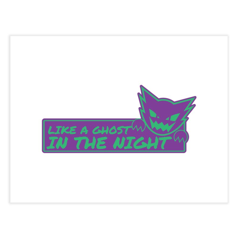 Haunter Like a Ghost in the Night Home Fine Art Print by jaredslyterdesign's Artist Shop