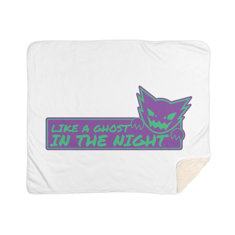 Haunter Like a Ghost in the Night Home Sherpa Blanket Blanket by jaredslyterdesign's Artist Shop