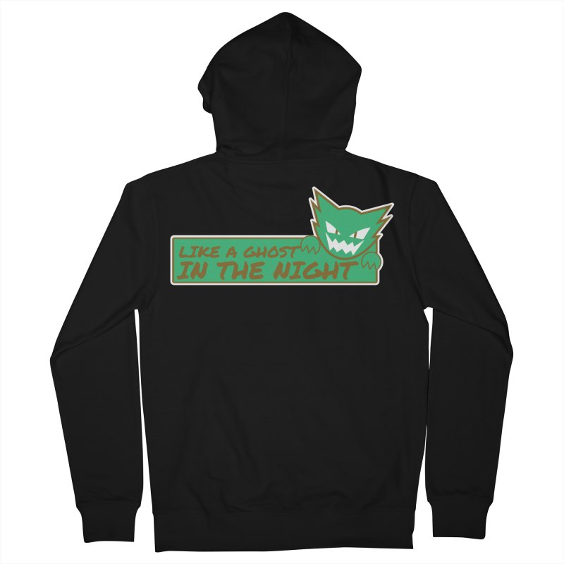 Haunter - Like a Ghost in the Night Green and Gold Women's Zip-Up Hoody by jaredslyterdesign's Artist Shop