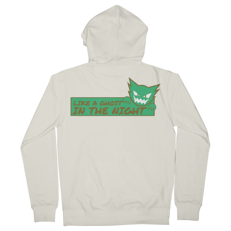 Haunter - Like a Ghost in the Night Green and Gold Men's Zip-Up Hoody by jaredslyterdesign's Artist Shop