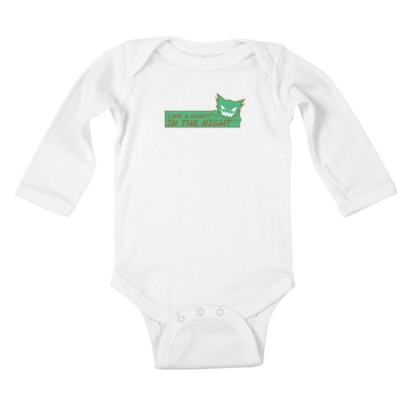 Haunter - Like a Ghost in the Night Green and Gold Kids Baby Longsleeve Bodysuit by jaredslyterdesign's Artist Shop