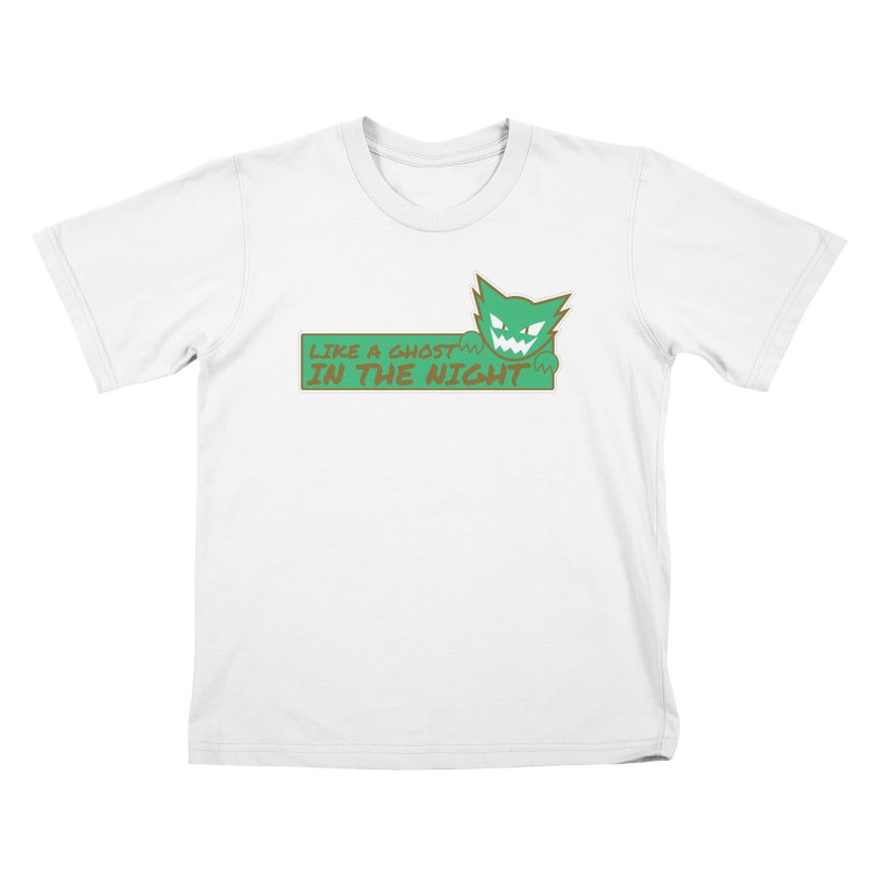 Haunter - Like a Ghost in the Night Green and Gold Kids T-Shirt by jaredslyterdesign's Artist Shop