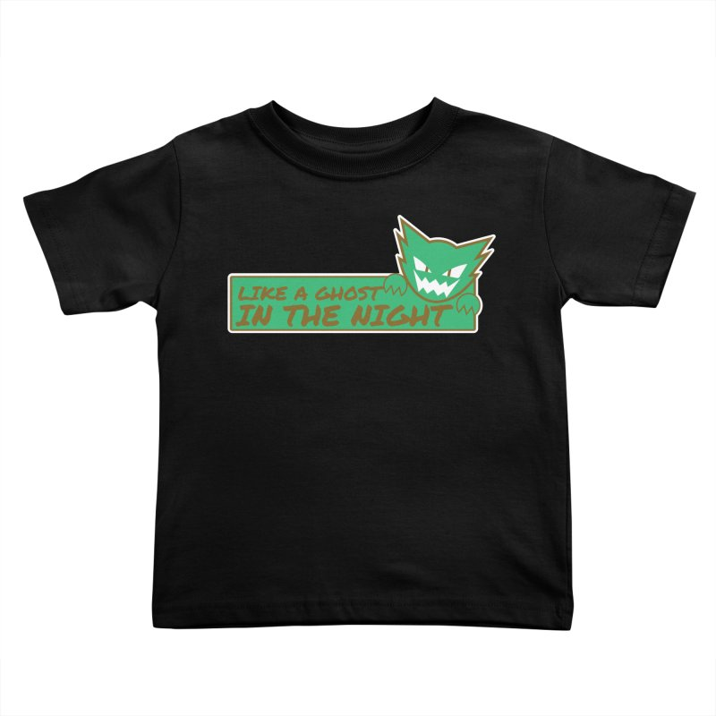 Haunter - Like a Ghost in the Night Green and Gold Kids Toddler T-Shirt by jaredslyterdesign's Artist Shop