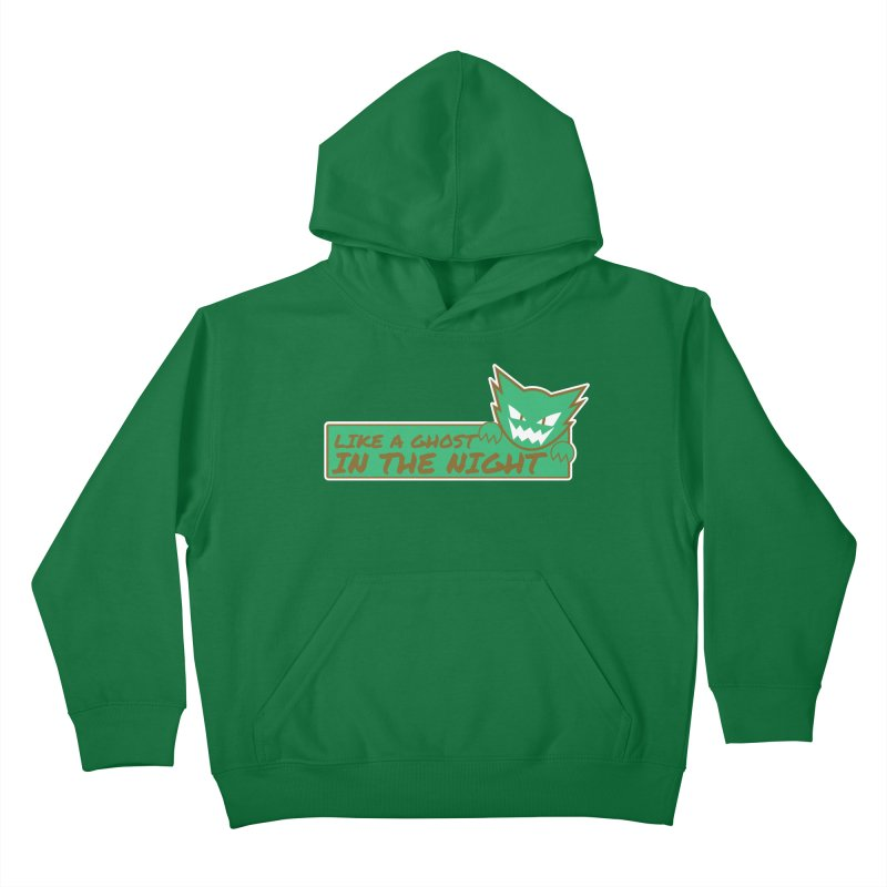 Haunter - Like a Ghost in the Night Green and Gold Kids Pullover Hoody by jaredslyterdesign's Artist Shop