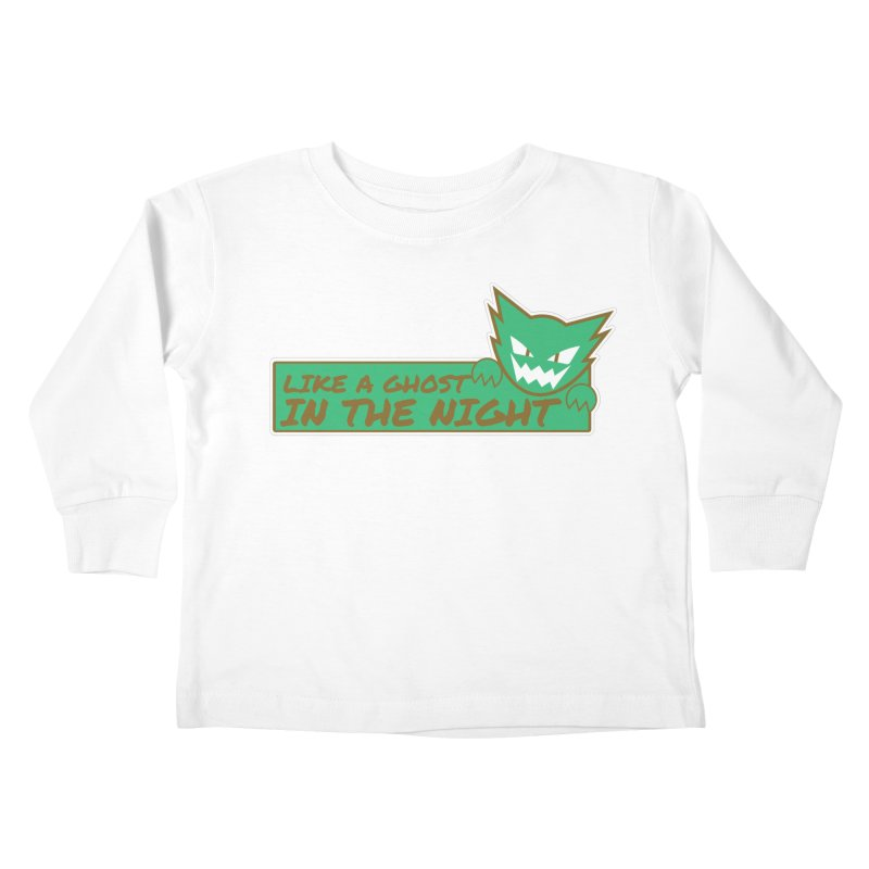 Haunter - Like a Ghost in the Night Green and Gold Kids Toddler Longsleeve T-Shirt by jaredslyterdesign's Artist Shop