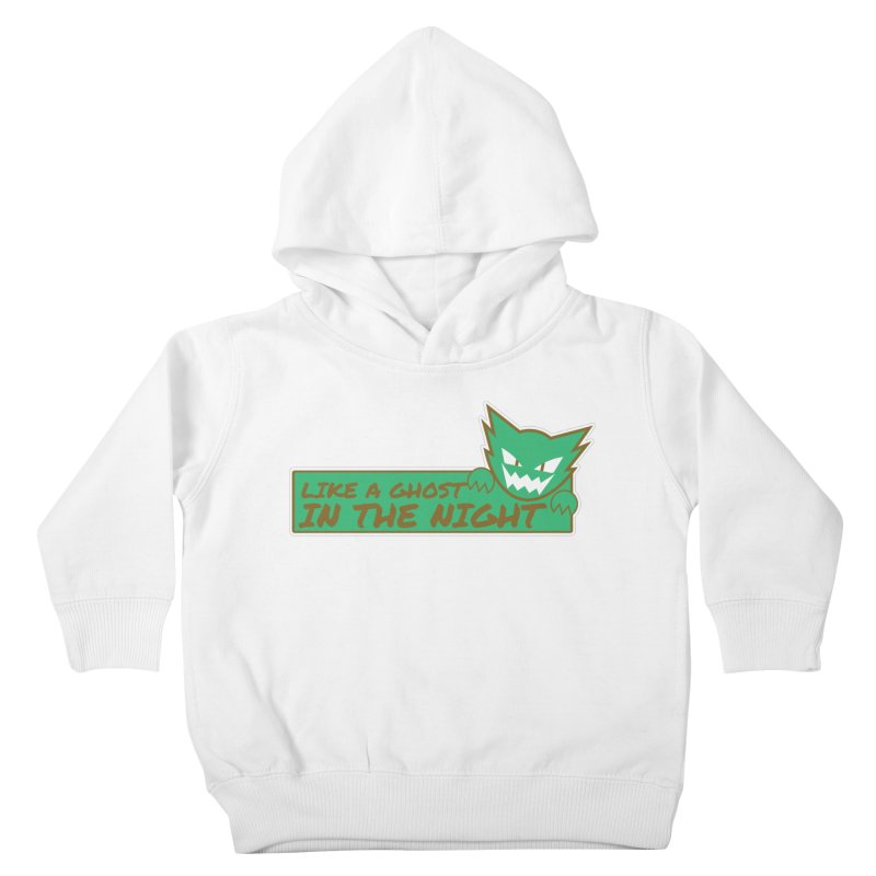 Haunter - Like a Ghost in the Night Green and Gold Kids Toddler Pullover Hoody by jaredslyterdesign's Artist Shop