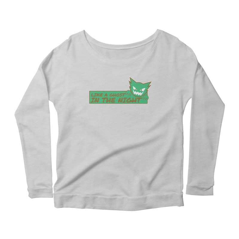 Haunter - Like a Ghost in the Night Green and Gold Women's Longsleeve Scoopneck  by jaredslyterdesign's Artist Shop