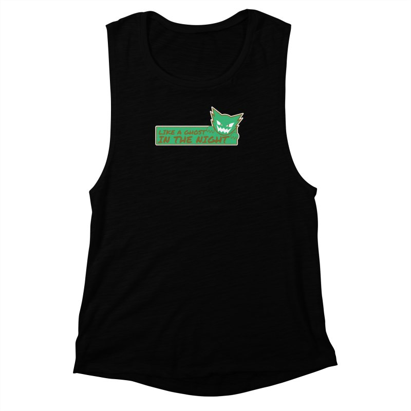 Haunter - Like a Ghost in the Night Green and Gold Women's Muscle Tank by jaredslyterdesign's Artist Shop