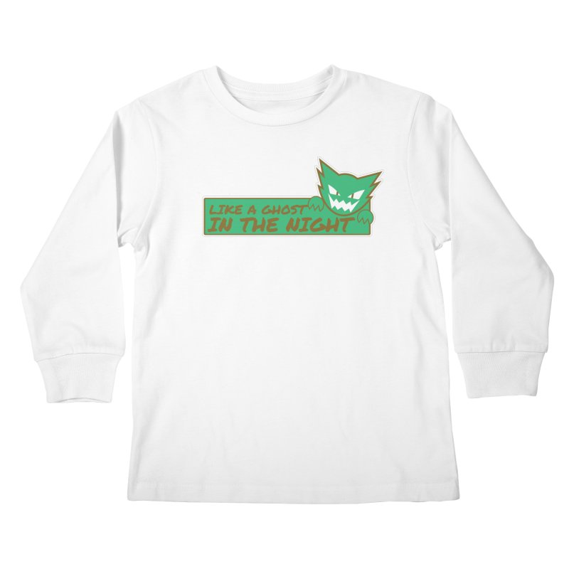 Haunter - Like a Ghost in the Night Green and Gold Kids Longsleeve T-Shirt by jaredslyterdesign's Artist Shop
