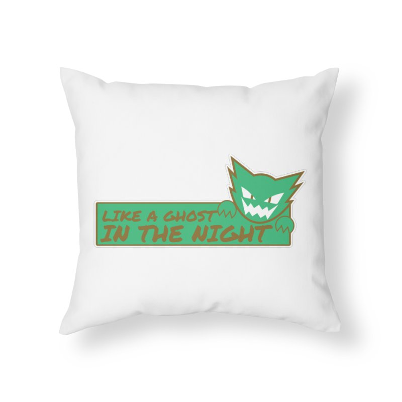 Haunter - Like a Ghost in the Night Green and Gold Home Throw Pillow by jaredslyterdesign's Artist Shop