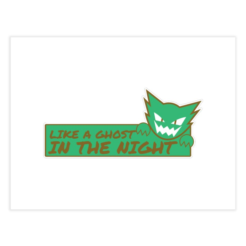 Haunter - Like a Ghost in the Night Green and Gold Home Fine Art Print by jaredslyterdesign's Artist Shop