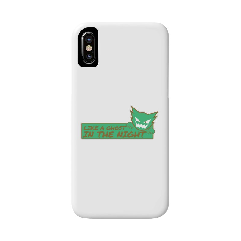 Haunter - Like a Ghost in the Night Green and Gold Accessories Phone Case by jaredslyterdesign's Artist Shop