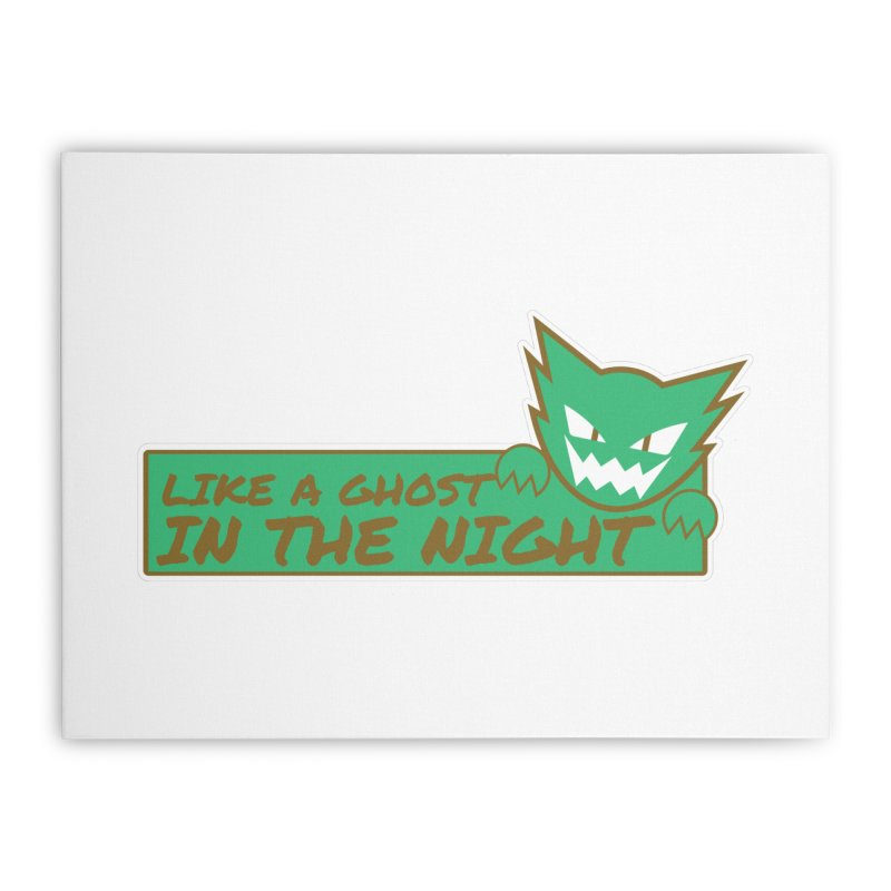 Haunter - Like a Ghost in the Night Green and Gold Home Stretched Canvas by jaredslyterdesign's Artist Shop