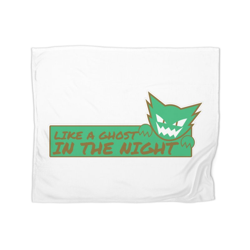 Haunter - Like a Ghost in the Night Green and Gold Home Blanket by jaredslyterdesign's Artist Shop