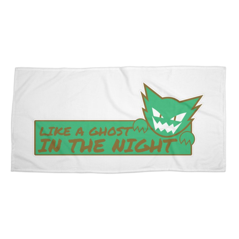 Haunter - Like a Ghost in the Night Green and Gold Accessories Beach Towel by jaredslyterdesign's Artist Shop