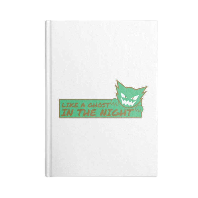 Haunter - Like a Ghost in the Night Green and Gold Accessories Notebook by jaredslyterdesign's Artist Shop