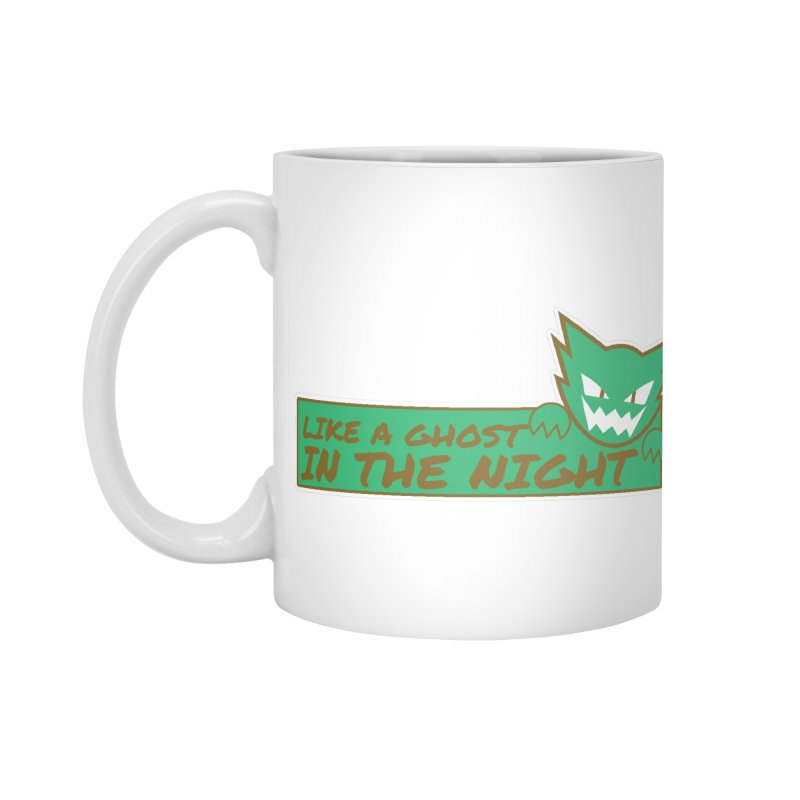 Haunter - Like a Ghost in the Night Green and Gold Accessories Mug by jaredslyterdesign's Artist Shop
