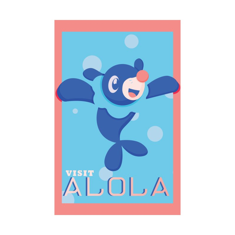 Visit Alola with Popplio ! Kids Baby Zip-Up Hoody by jaredslyterdesign's Artist Shop