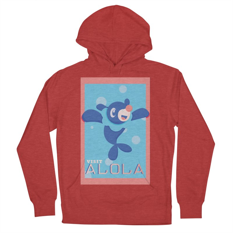 Visit Alola with Popplio ! Men's French Terry Pullover Hoody by jaredslyterdesign's Artist Shop