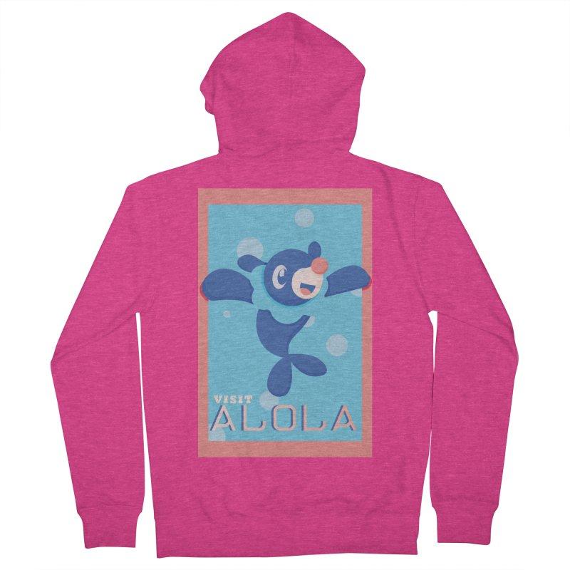 Visit Alola with Popplio ! Women's French Terry Zip-Up Hoody by jaredslyterdesign's Artist Shop