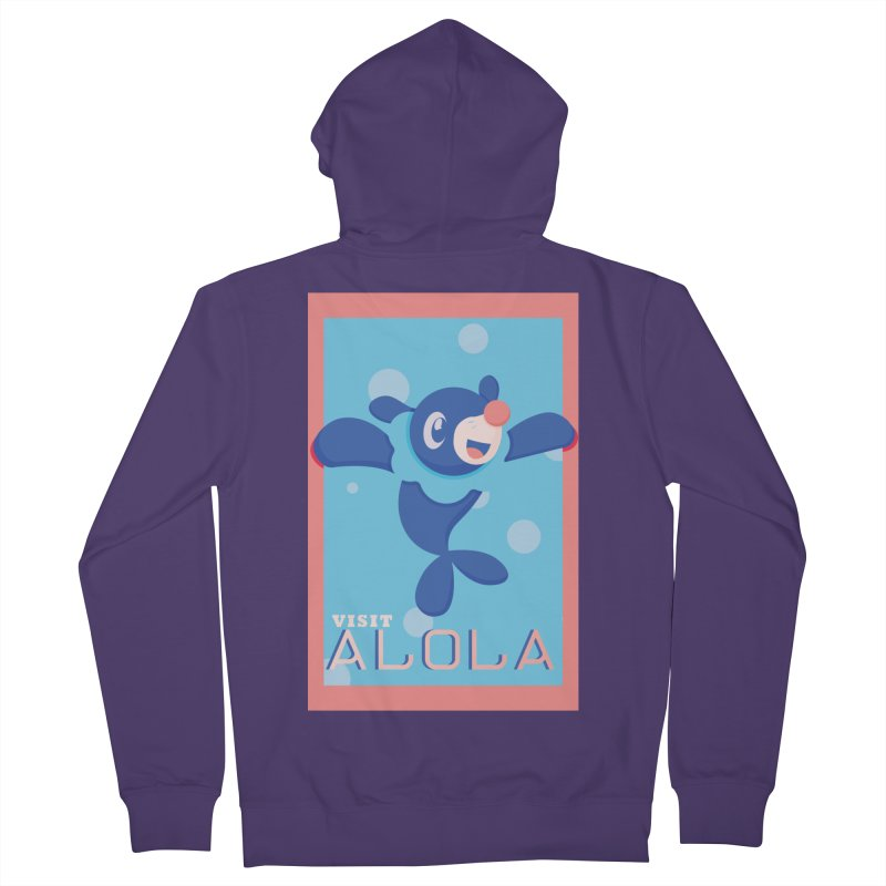 Visit Alola with Popplio ! Women's Zip-Up Hoody by jaredslyterdesign's Artist Shop
