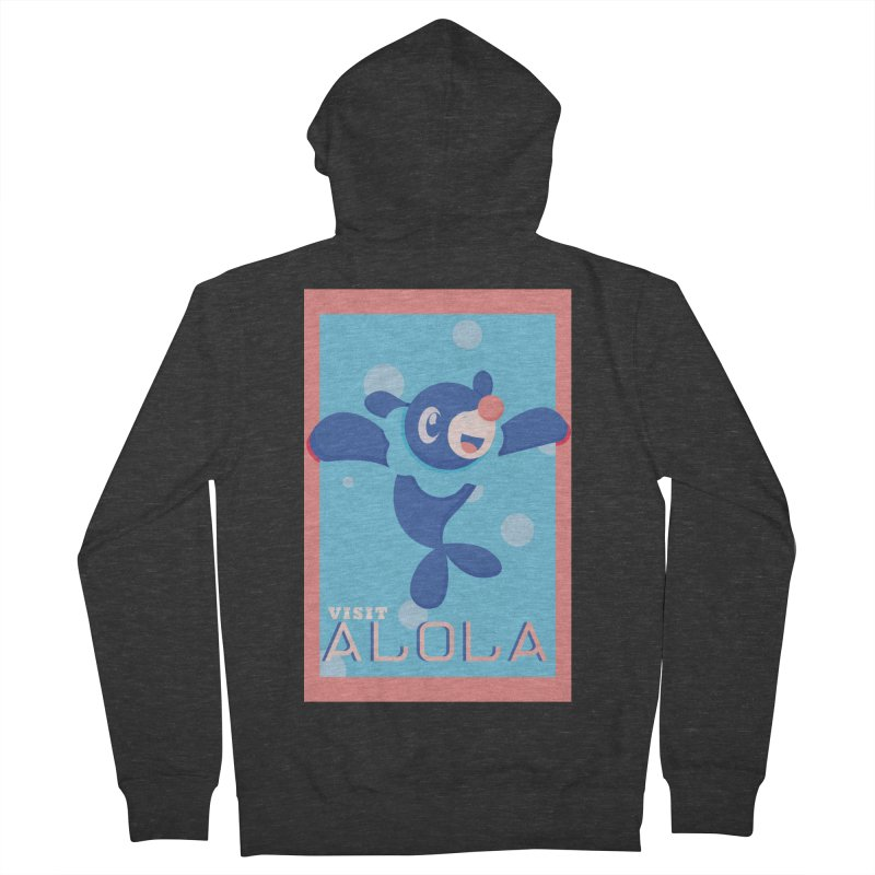 Visit Alola with Popplio ! Men's Zip-Up Hoody by jaredslyterdesign's Artist Shop