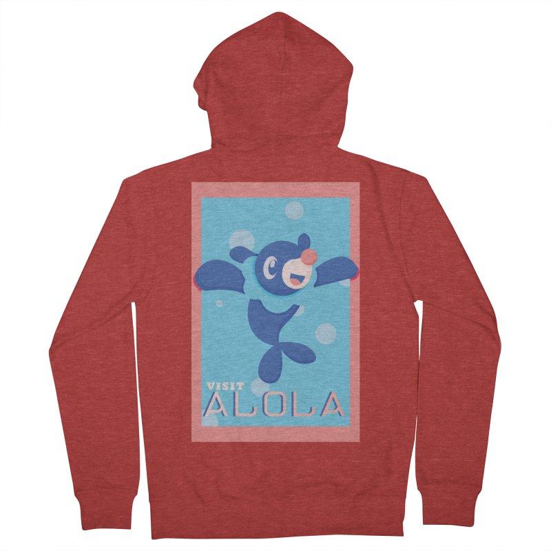 Visit Alola with Popplio ! Men's Zip-Up Hoody by jaredslyterdesign's Artist Shop