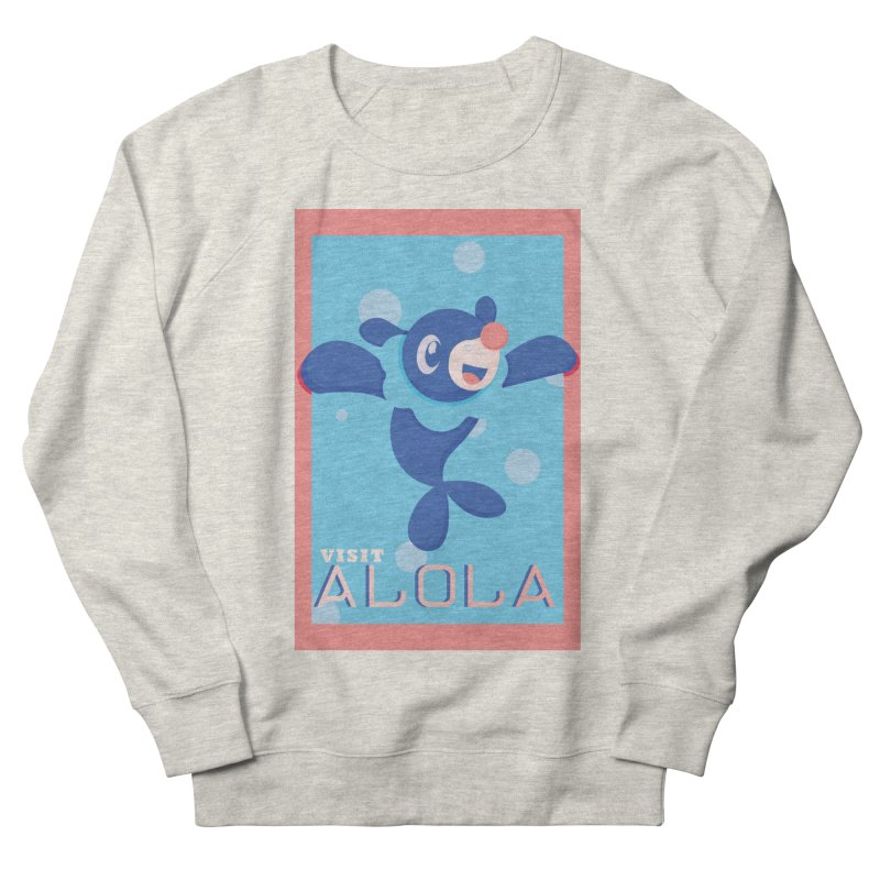 Visit Alola with Popplio ! Men's French Terry Sweatshirt by jaredslyterdesign's Artist Shop