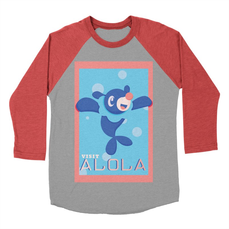 Visit Alola with Popplio ! Men's Baseball Triblend T-Shirt by jaredslyterdesign's Artist Shop