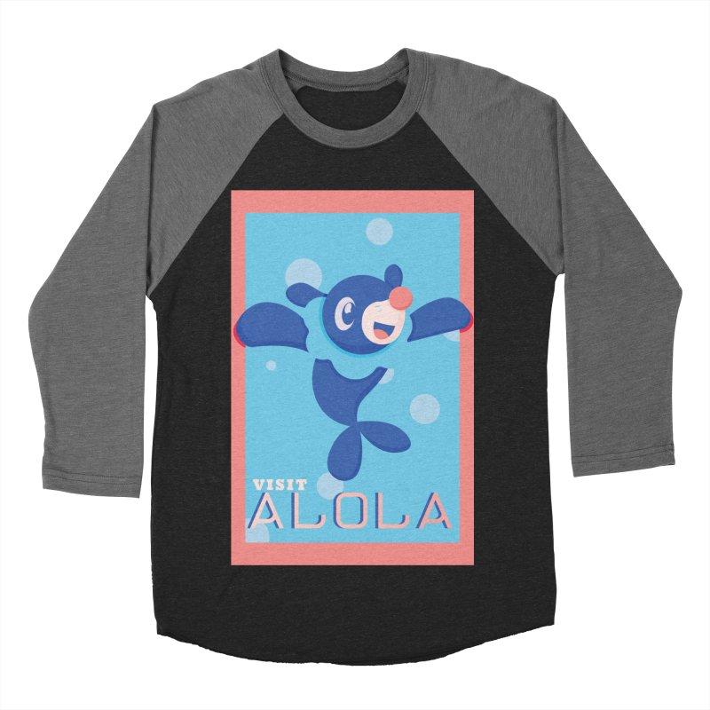 Visit Alola with Popplio ! Men's Baseball Triblend Longsleeve T-Shirt by jaredslyterdesign's Artist Shop