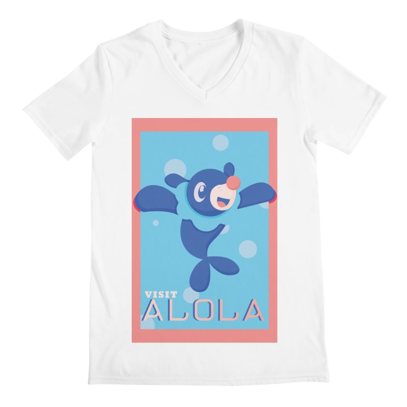 Visit Alola with Popplio ! Men's Regular V-Neck by jaredslyterdesign's Artist Shop