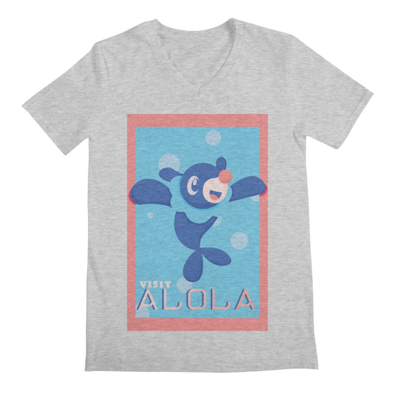 Visit Alola with Popplio ! Men's Regular V-Neck by jaredslyterdesign's Artist Shop